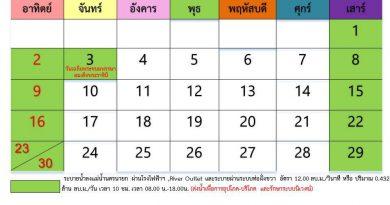 แผนการระบายน้ำเขื่อนขุนด่านปราการชล เดือน มิถุนายน 2562